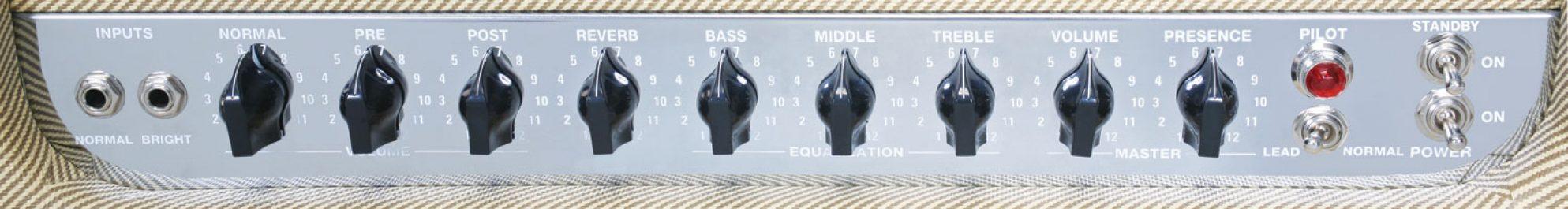 Peavey Classic 50 212 Guitar Amp Combo Panel