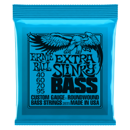 Ernie Ball Extra Slinky Roundwound Bass Strings 40-95