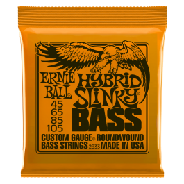 Ernie Ball Hybrid Slinky Roundwound Bass Strings 45-105