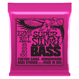 Ernie Ball Super Slinky Roundwound Bass Strings 45-100