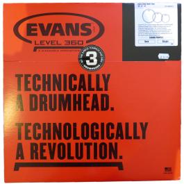 Evans-EC2S-Clear-Rock-Three-Pack Drum Heads