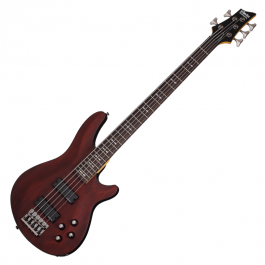 Schecter-Omen-5-Bass-Guitar-Walnut-Satin-WSN