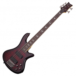 Schecter-Stiletto-Extreme-5-Black-Cherry-BCH-Bass-Guitar