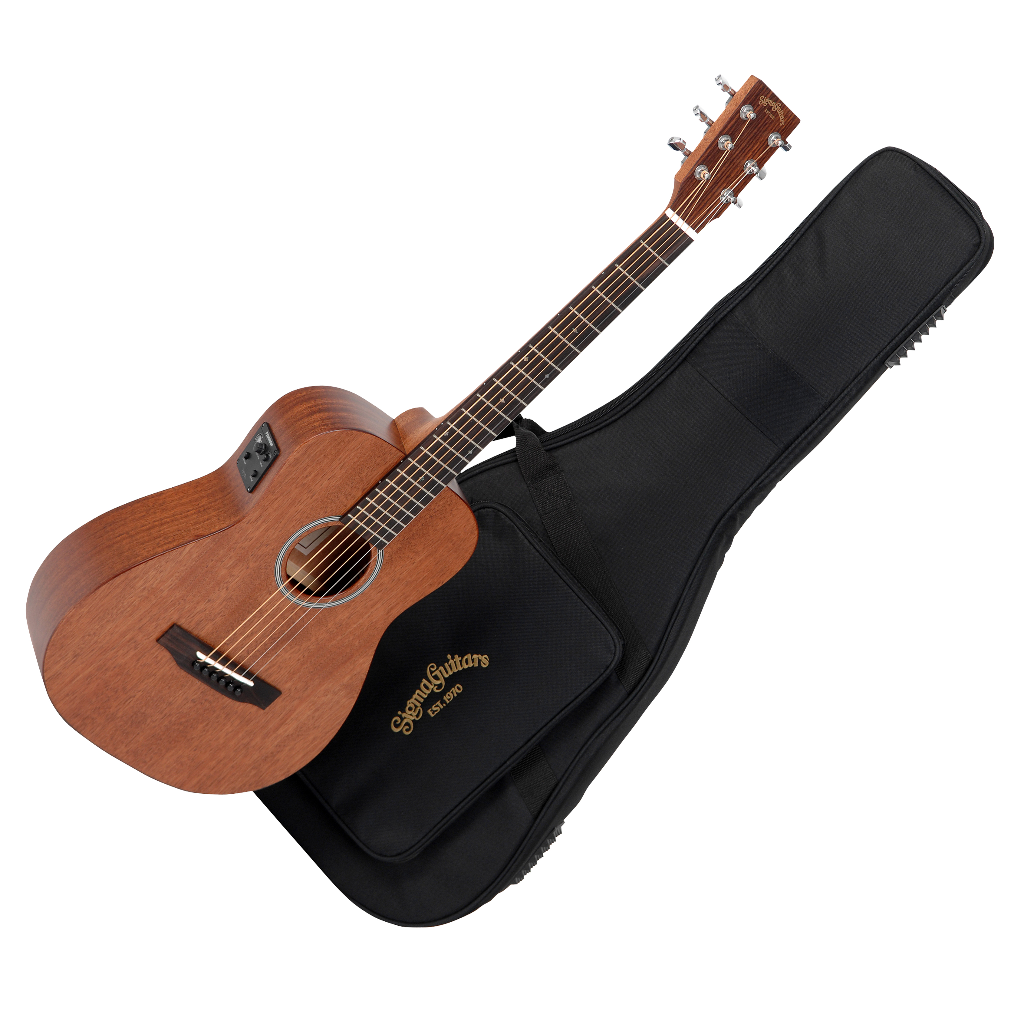 sigma tm 15e mahogany electro acoustic travel guitar with gig bag live louder