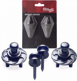 Stagg Guitar Strap Locks Black SSL1 BK