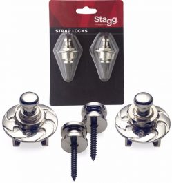 Stagg Guitar Strap Locks Chrome SSL1 CR