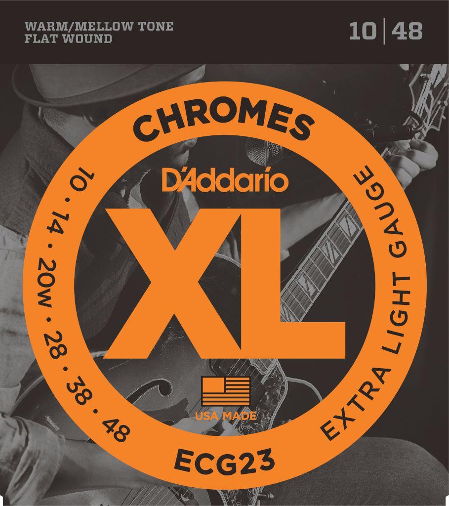 D Addario Ecg23 Chromes Flat Wound Electric Guitar Strings