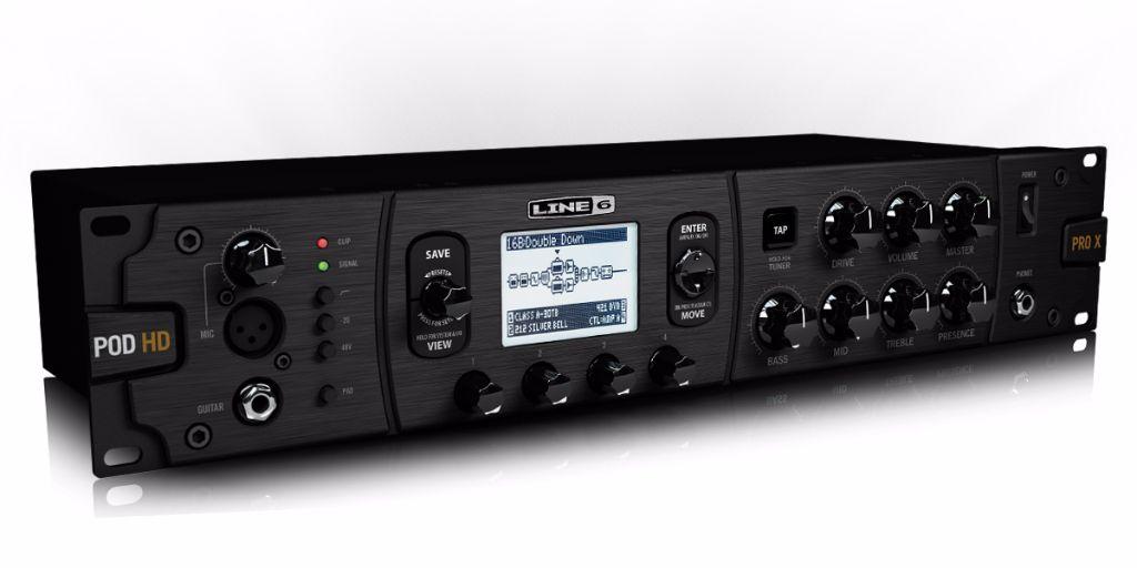 line 6 pod hd pro x rack mount guitar effects processor live louder