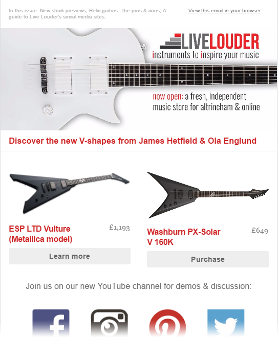 live-louder-newsletter-example