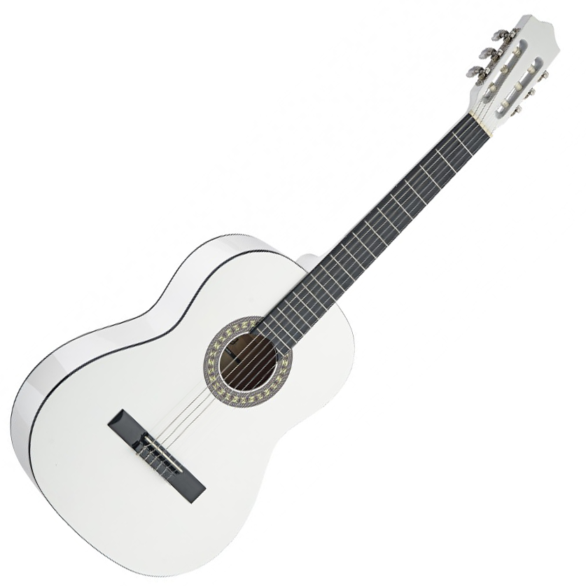 stagg c530 wh 3 4 size classical guitar white live louder. Black Bedroom Furniture Sets. Home Design Ideas
