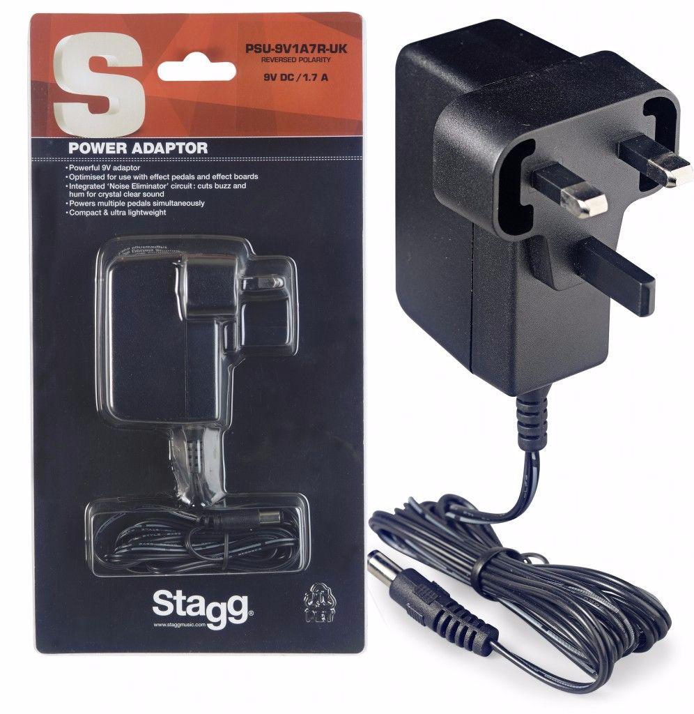 Stagg Power Supply 9 Volt DC, 1.7A, PSU-9V1A7R-UK | Live Louder