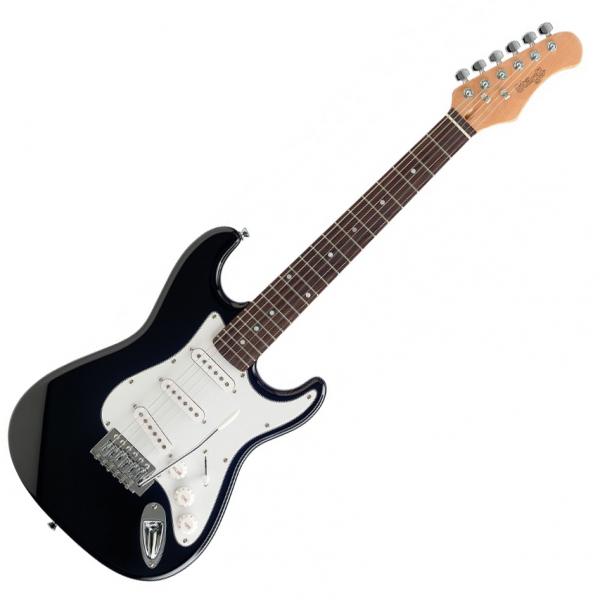 stagg s300 3 4 bk three quarter size electric guitar black live louder. Black Bedroom Furniture Sets. Home Design Ideas