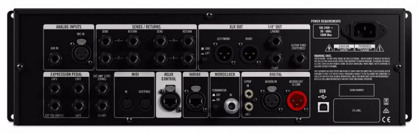 Line 6 Helix Rack back