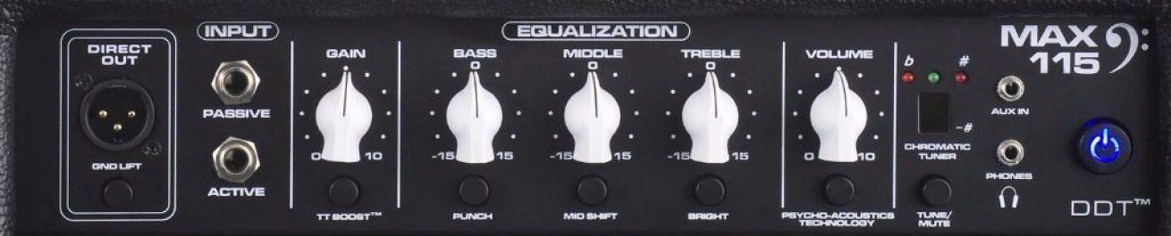 Peavey Max 115 Bass Combo controls