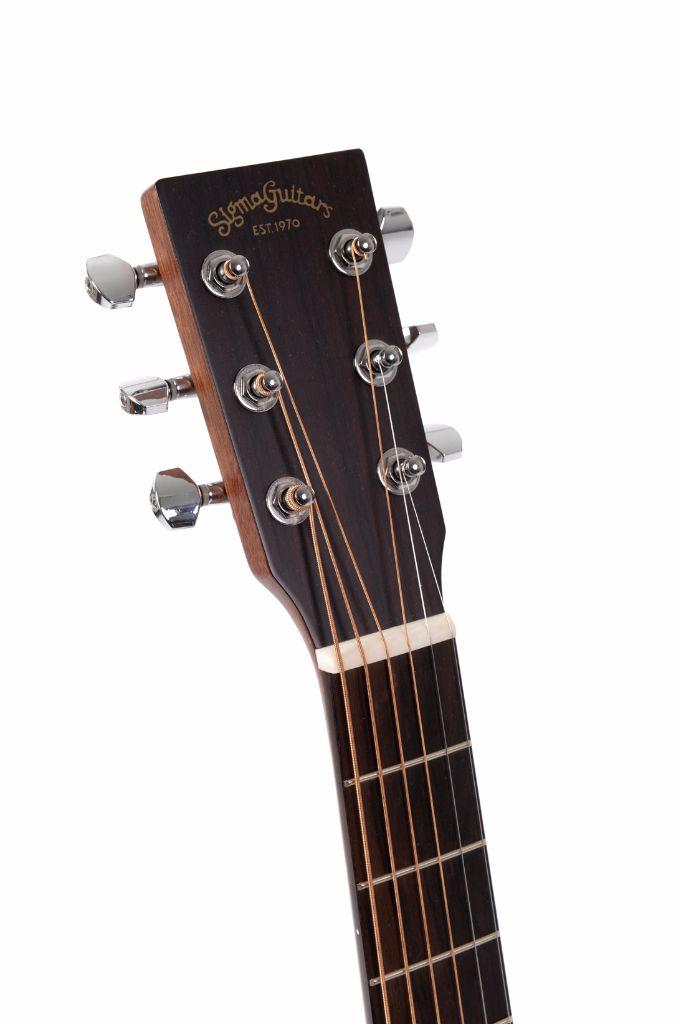 sigma tm 12e electro acoustic travel guitar with gig bag live louder. Black Bedroom Furniture Sets. Home Design Ideas