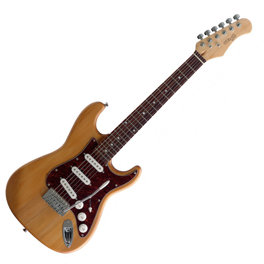 stagg s300 3 4 ns three quarter size electric guitar natural live louder. Black Bedroom Furniture Sets. Home Design Ideas