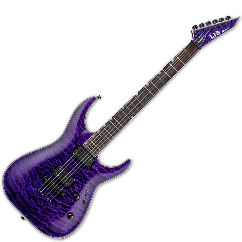 esp ltd mh 1001nt see thru purple live louder. Black Bedroom Furniture Sets. Home Design Ideas