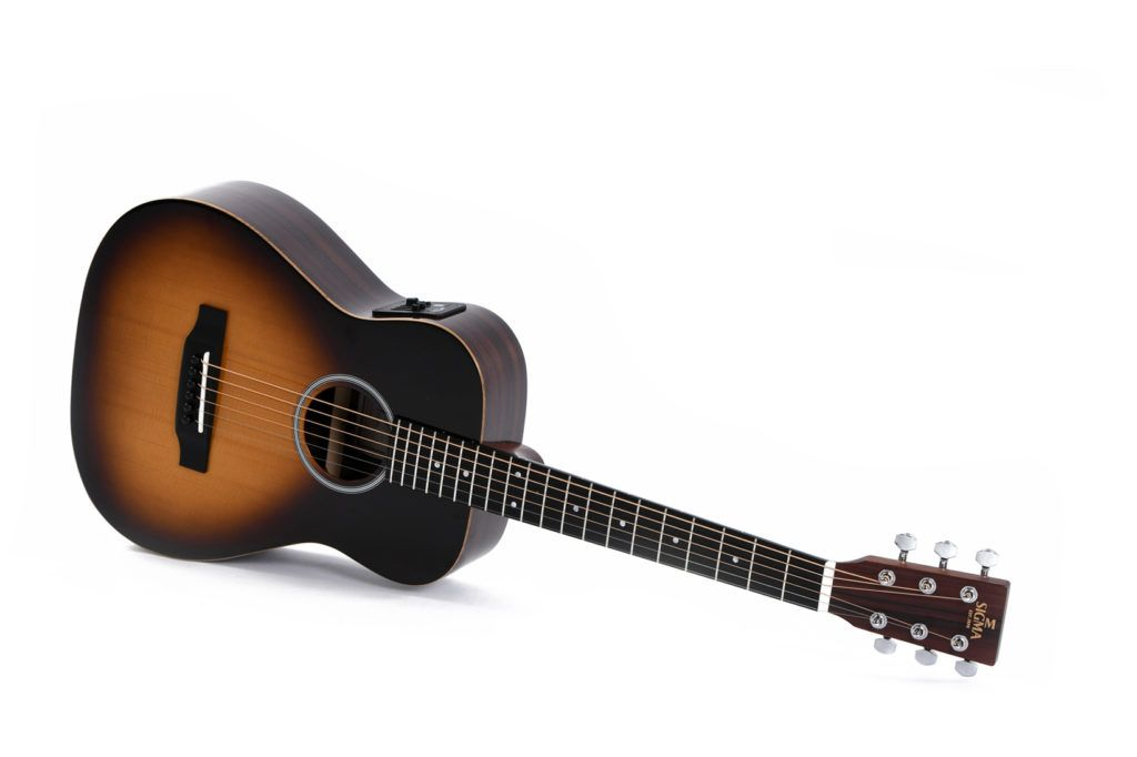 Guitars & Basses Sigma Tm-12e Solid Top Travel Acoustic Electric Guitar With Padded Gig Bag Musical Instruments & Gear